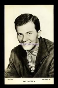 b6418 - Film Actor - Pat Boone A - 20th Century Fox - plain back - postcard