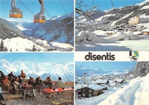 Switzerland Disentis Graubunden mit der Luftseilbahn, Terrassen-Restaurant
