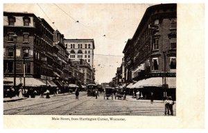 Massachusetts Worcester Main STreet from Harrington Corner