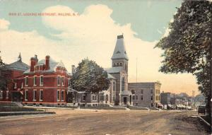 Malone New York Main Street Scene Historic Bldgs Antique Postcard K34230