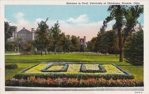 Oklahoma Norman Entrance To Oval University Of Oklahoma