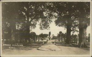 Cali Colombia Paseo Bolivar c1920s Real Photo Postcard