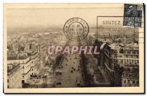 Postcard The Old Paris Champs Elysees