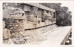 RP; MEXICO; Temple of Questzalcoatl, Teotihuacan, 1950s
