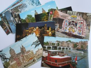 Lot of 22 Amsterdam / HOLLAND Vintage Postcards -  Unused - Continental Size