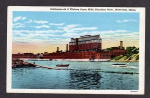 ME Whitney Paper Mill Factory WATERVILLE MAINE Postcard