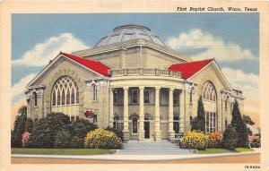 C3/ Waco Texas Tx Postcard 1949 First Baptist Church Building