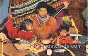 Seminole Indians Postcard Miami, FL, USA Tropical Hobbyland Indian Village