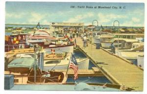 Boats, Yacht Basin At Morehead City, North Carolina, PU-1950
