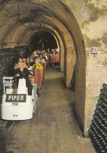 Champagne Piper Heidsieck Reims Train Postcard