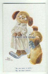 su2484 - Two Dogs, Ammunitions Workers, Artist M.Knight & A.E.Kennedy - postcard