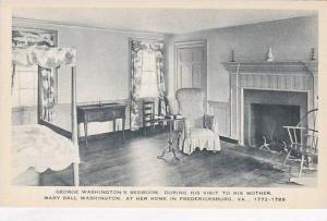 Virginia Fredericksburg George Washingtons Bed Room During Visits To His Moth...