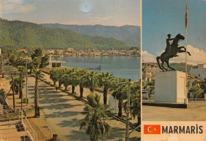 B108321 Turkey Marmaris Turkiye Promenade Statue Horse real photo uk