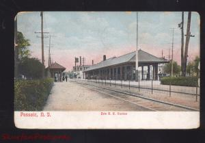 PASSAIC NEW JERSEY ERIE RAILROAD STATION TRAIN DEPOT VINTAGE POSTCARD N.J.