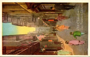 California San Francisco Scene In Old Chinatown