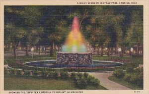 A Night Scene In Central Park Lansing Michigan