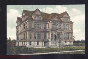 TACOMA WASHINGTON IRVING SCHOOL BUILDING ANTIQUE VINTAGE POSTCARD