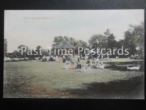c1907 - Manor Gardens, Burnham, Somerset - shows park scene & bandstand 160515