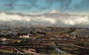 Spain Tenerife Valle de la Orotava Panoramic view Postcard