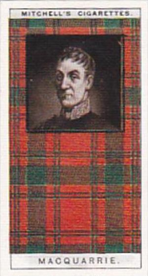 Mitchell Vintage Cigarette Card Clan Tartans No 19 MACQUARRIE