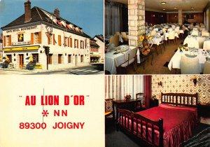 France Au Lion d'Or Hotel Restaurant Bar Joigny Postcard