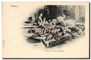 Old Postcard Thiers Interieur d & # 39A cutlery TOP