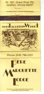 Matchbook Cover ! Pere Marquette Lodge, Grafton, Illinois !