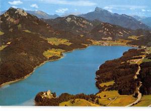 GG9247 fuschlsee im salzkammergut schloss fuschl am see   austria