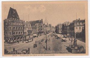 TRIER, Rhineland-Palatinate, Germany, 1900-1910's; Hauptmarkt mit Black in di...