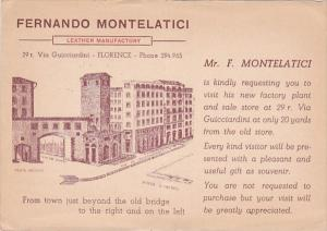 Italy Firenze Fernando Montelatica Leather Manufactory