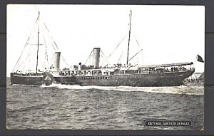 Steamer Leaving Ostende For The Channel Crossing Postcard
