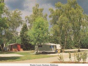 Wyatts Covert Caravan Club Camp Site Denham Middlesex Postcard
