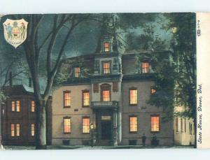 Unused Divided-Back STATEHOUSE AT NIGHT Dover Delaware DE G1389