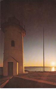 Sunset behind Nobska Lighthouse near Wood Hole, CAPE COD, Massachusetts, 40-60s