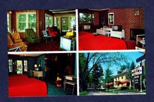 ME Allen's Motel & Chateau SANFORD MAINE PC Postcard