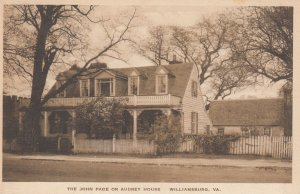 WILLIAMSBURG , Virginia , 1910-30s ; John Page or Audrey House