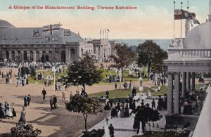 TORONTO, Ontario, Canada, 1900-1910s; A Glimpse Of The Manufacturers' Building
