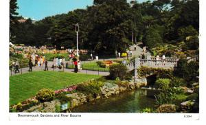 Post Card Dorset BOURNEMOUTH Gardens and River Bourne Dennis Productions Photoco