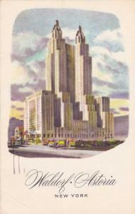 Waldorf Astoria Hotel at New York City - pm 1963