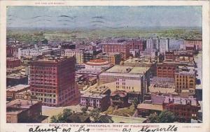 Minnesota Minneapolis Birds Eye View West Of Fourth Street 1906