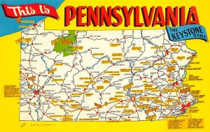 Maps Pennsylvania USA Unused