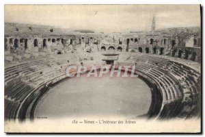 Postcard Old Nimes Arenes of the Interieur
