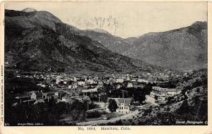 D40/ Manitou Colorado Co Postcard 1908 Birdseye View of Town Homes