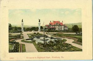 PA - Pittsburgh, Entrance to Highland Park