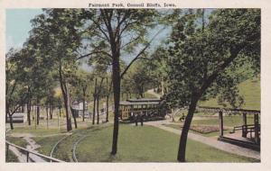 Iowa Council Bluffs Trolley In Fairmont Park