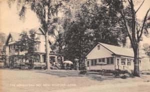New Milford Connecticut~The Homestead Inn~Restaurant~Lawn Umbrellas~1940s B&W