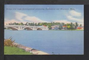 Bridge,Lake Quinsigamond,Worcester,MA Postcard