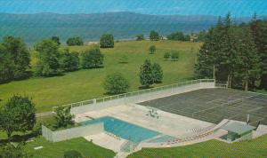 View From Qualicum Beach Inn, Swimming Pool, Tennis Court, Vancouver Island, ...