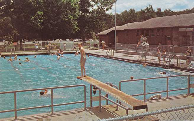 swimming pool at letchworth state park ny new york hippostcard