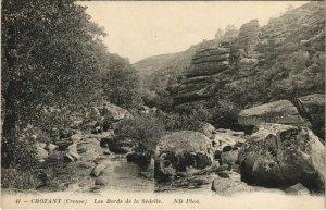 CPA CROZANT Les Bords de la Sedelle (1143761)